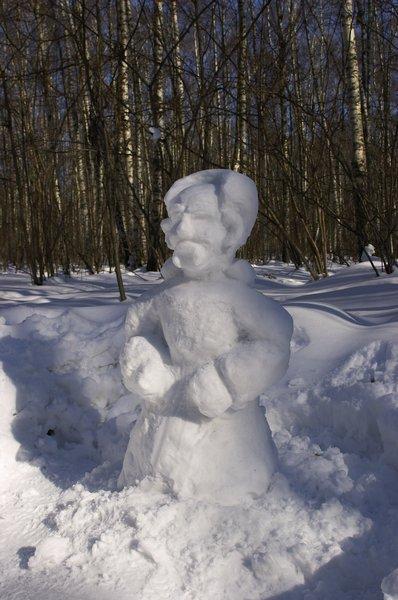 Снеговик в полный рост